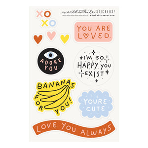 You Are Loved Sticker Sheet (set of 2)