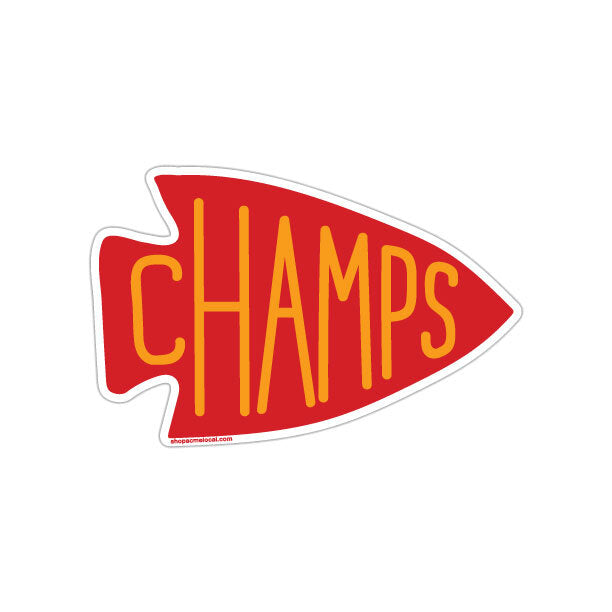KC Champs Arrowhead Sticker