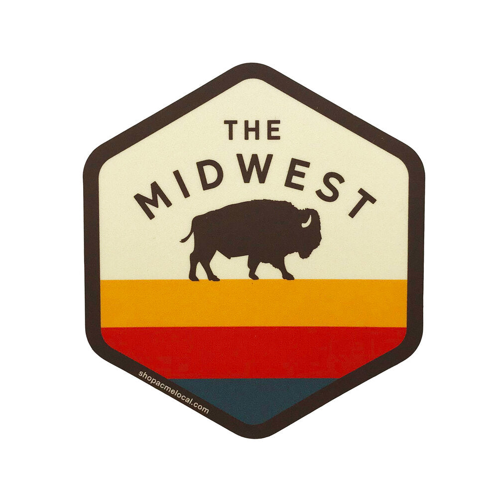 Midwest Buffalo Hex Sticker
