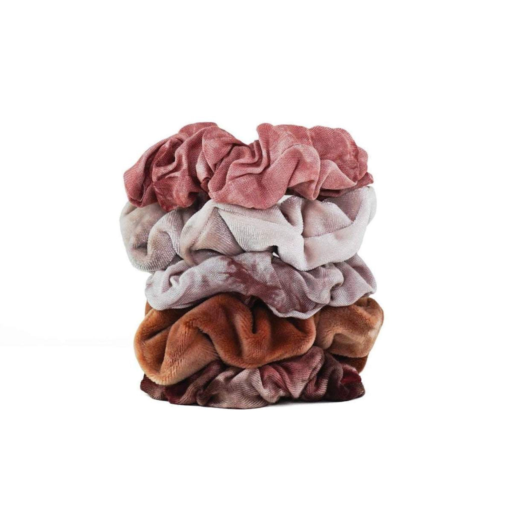 Scrunchies 4 Pack Tie Dye Rust