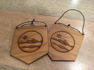 Mini Wood Banner ~Sunrise