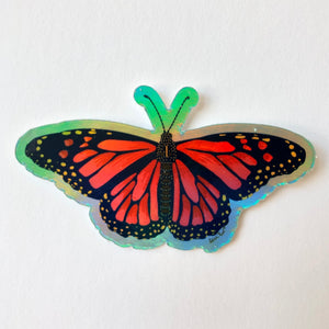 Holographic Monarch Butterfly Sticker