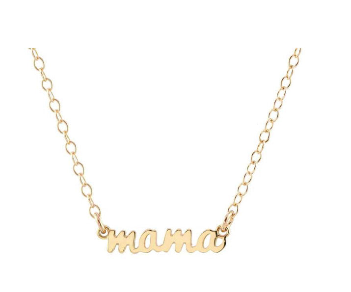 Mama Charm Necklace 18K Vermeil and Sterling Silver