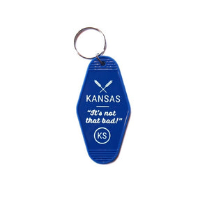 Kansas: It's Not That Bad Blue Keytag