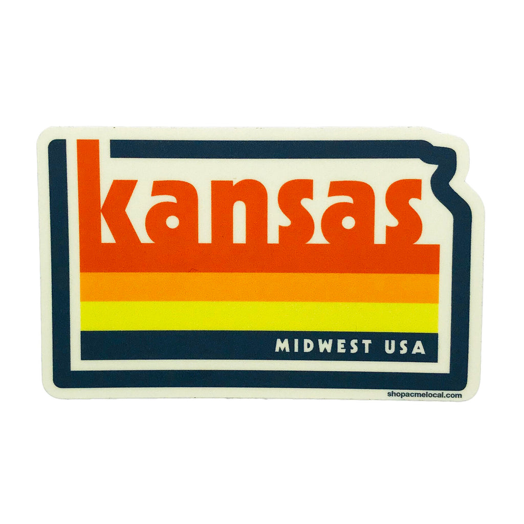 Kansas Vintage Sticker
