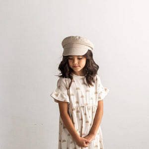 Kids Linen Newsboy Cap