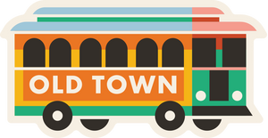 Old Town Trolly Sticker