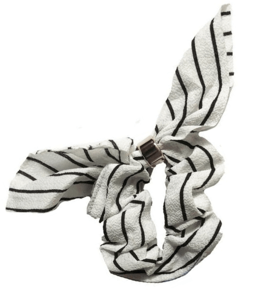 White Stripe Scrunchie