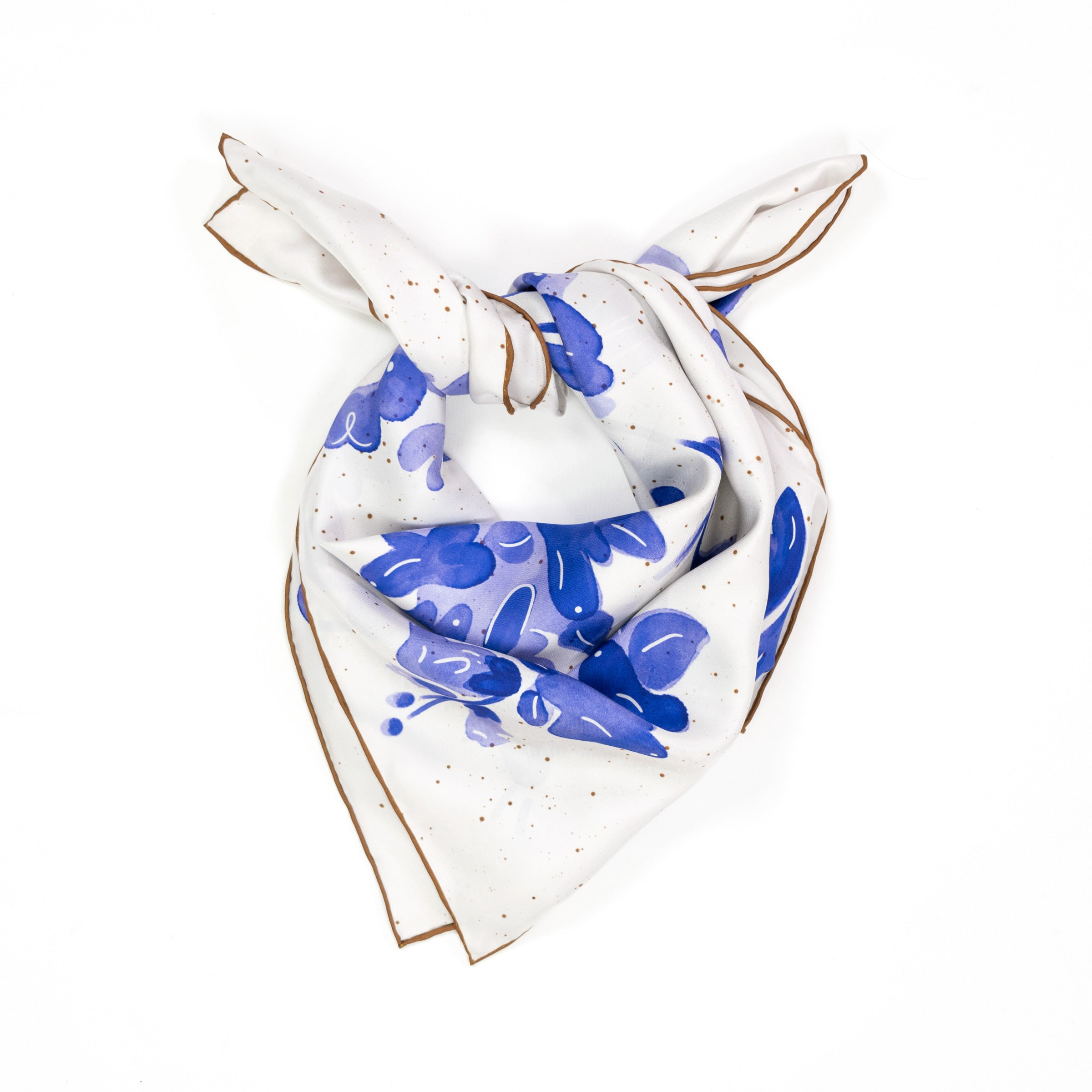 Dog Flower Silk Scarf