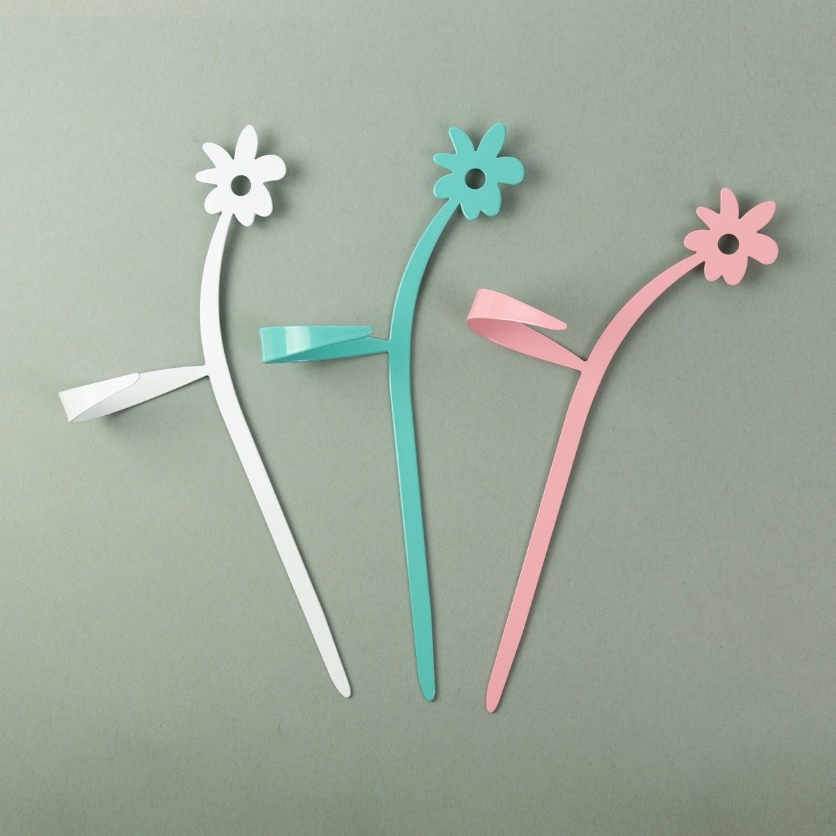 May Flowers Plant Support Stake White