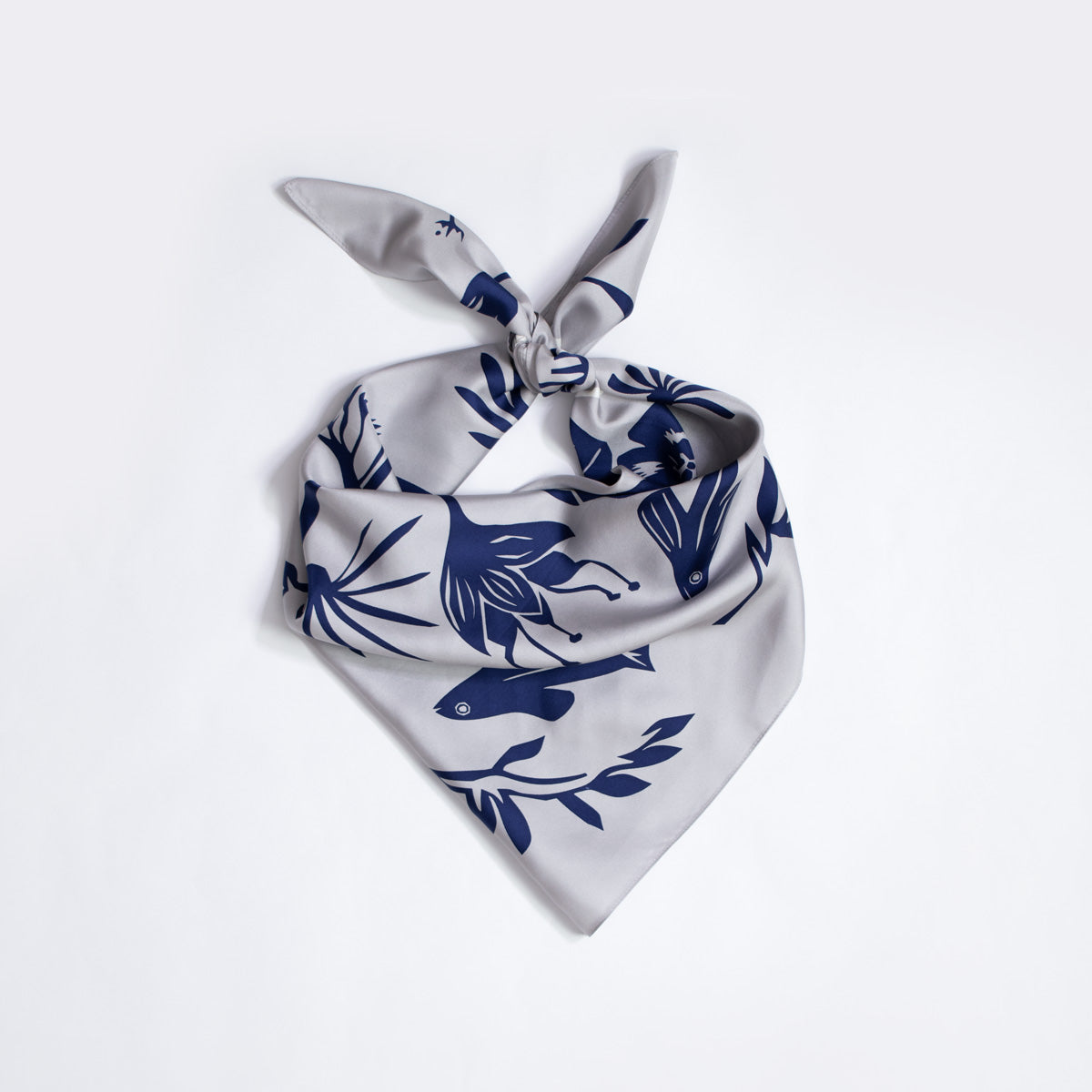 Flying Fish Flying Bird Silk Scarf