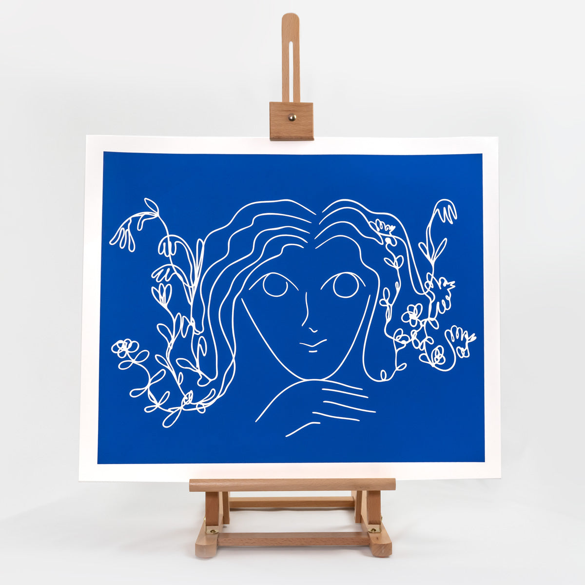 Portrait on Blue
