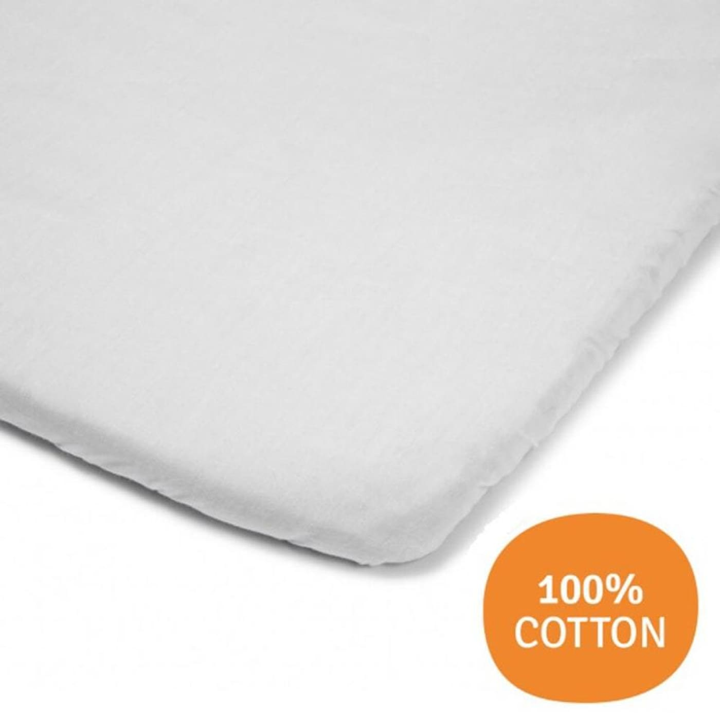 AeroMoov Instant Travel Cot Fitted Sheet - White - ON THE GO - PORTACOTS/ACCESSORIES