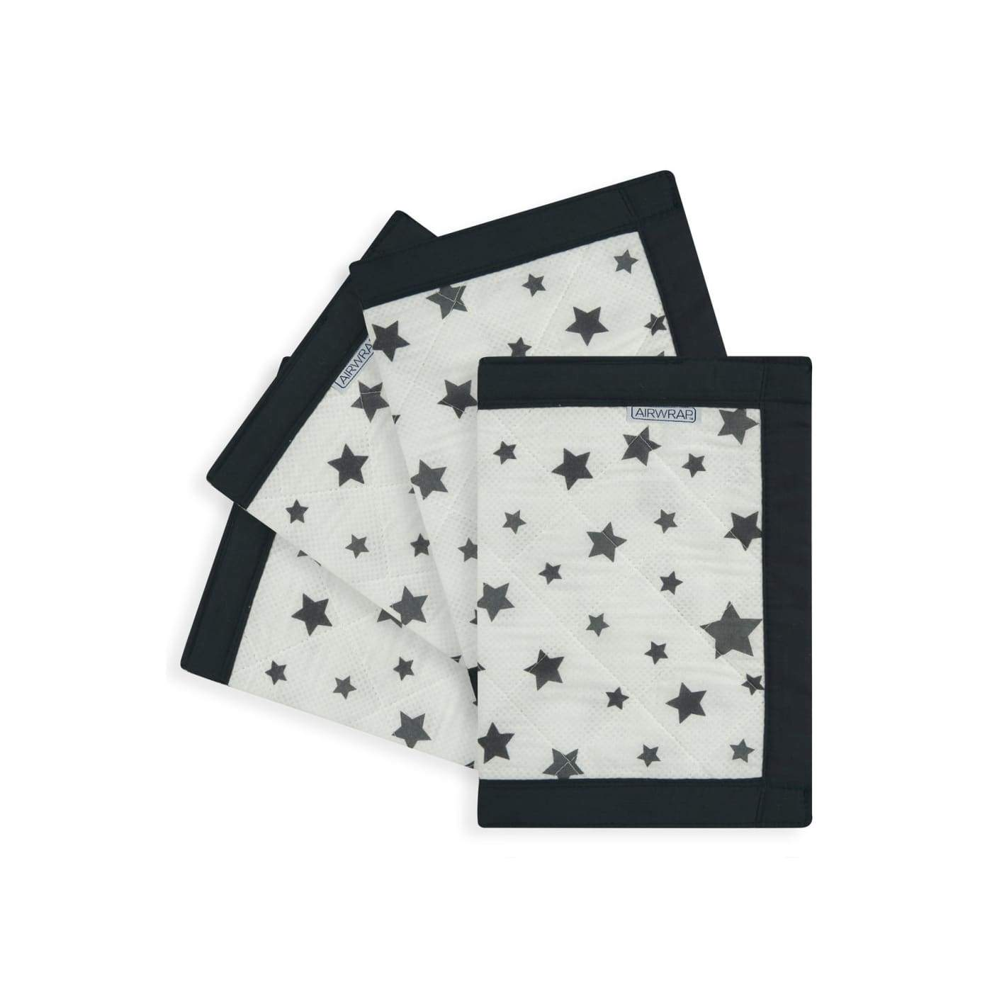 Airwrap 4 Sides - Charcoal Stars - NURSERY & BEDTIME - COT BUMPERS