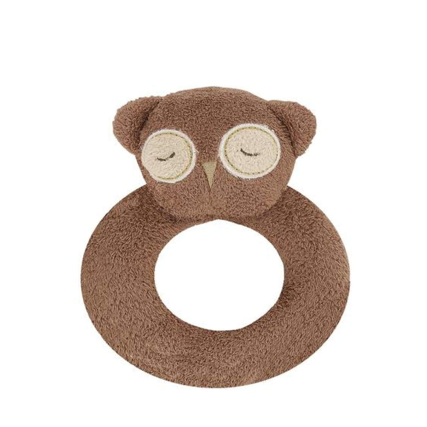 Angel Dear Ring Rattle - Brown Owl - TOYS & PLAY - BLANKIES/COMFORTERS/RATTLES