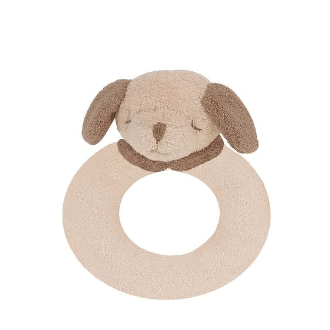 Angel Dear Ring Rattle - Brown Puppy - TOYS & PLAY - BLANKIES/COMFORTERS/RATTLES