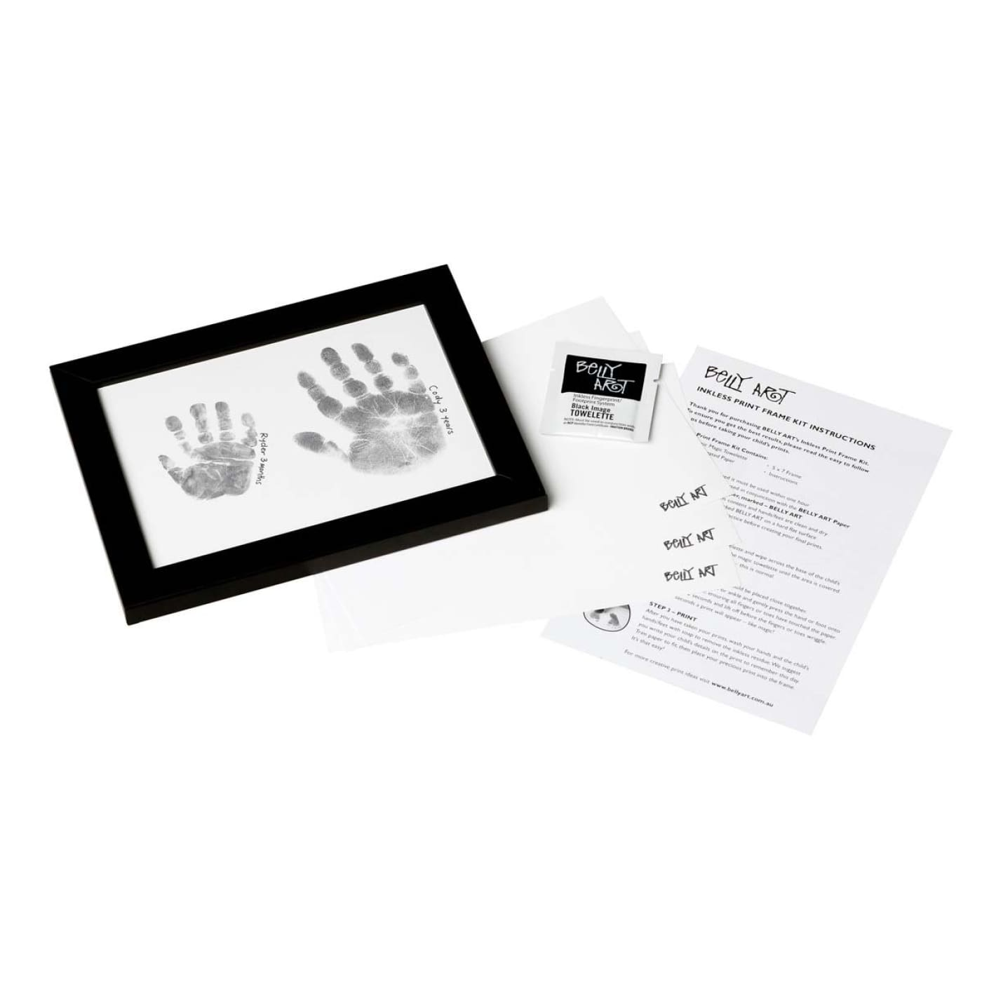 BABY MADE Inkless Print Frame Kit WHITE - GIFTWARE - KEEPSAKES