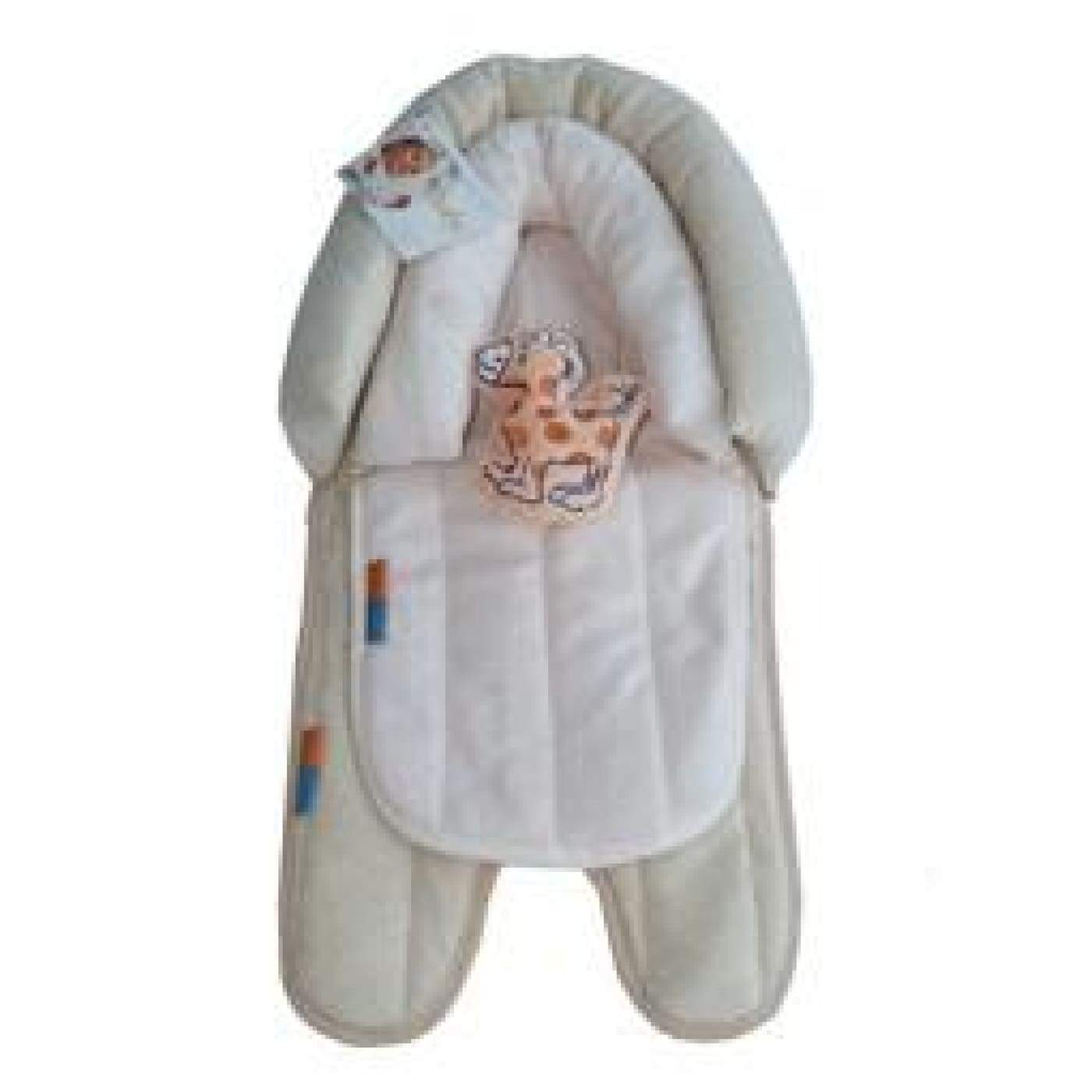 Babyhood 2 in 1 Head Support - Latte/Cream - PRAMS & STROLLERS - HEAD SUPPORTS