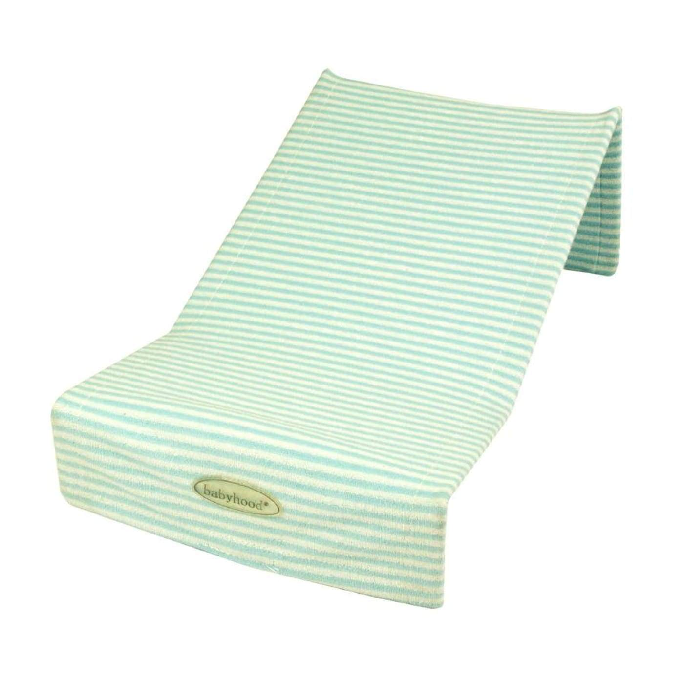 Babyhood Bath Support Towelling - Turquoise/White Stripes - BATHTIME & CHANGING - BATH SUPPORTS/SEATS