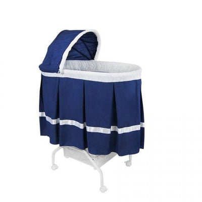 Babyhood Classic Bassinet - Navy - NURSERY & BEDTIME - BASSINETS/CRADLES/CO-SLEEPERS