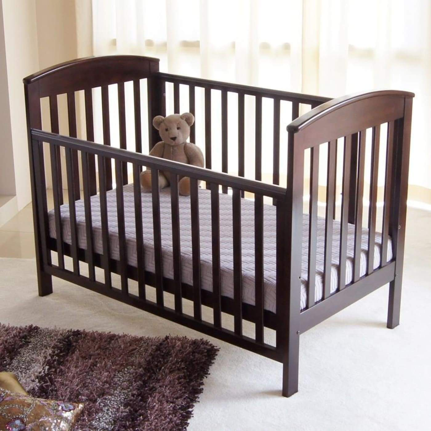 Babyhood Classic Curve Cot - English Oak - NURSERY & BEDTIME - COTS