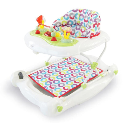 Babyhood Diddlee Doo Walker Rocker - White Magic - TOYS & PLAY - WALKERS/ACTIVITY CENTRES/RIDE ONS