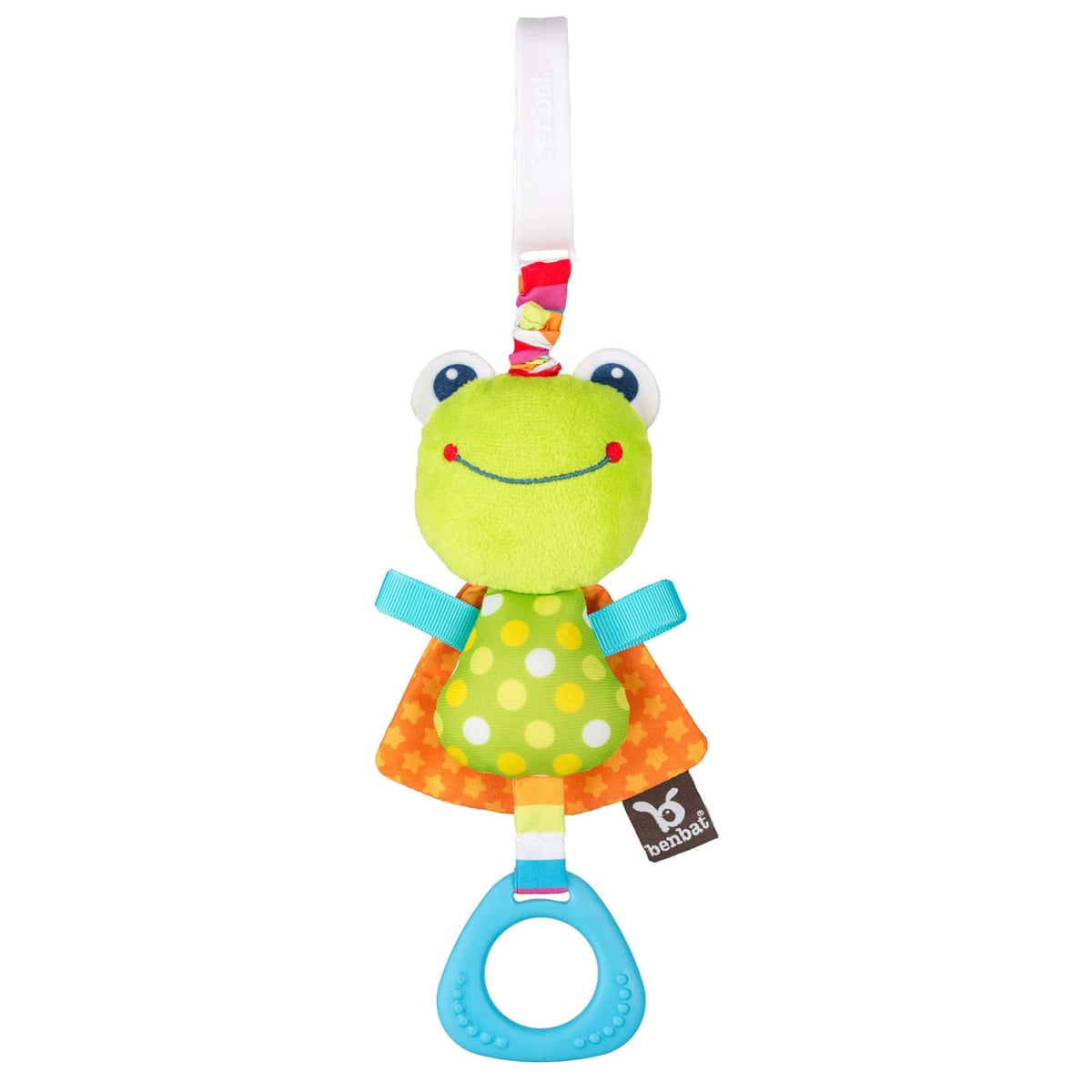 Benbat Dazzle Friends Travel Jitters - Frog - TOYS & PLAY - CLIP ON TOYS