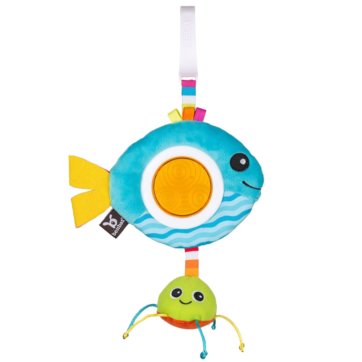 Benbat Dazzle Friends Travel Rattles - Fish - TOYS & PLAY - CLIP ON TOYS