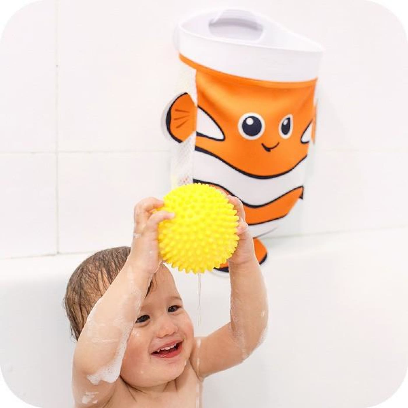 Benbat Scoop & Store Bath Basket - Fish - BATHTIME & CHANGING - BATH TOYS/AIDS