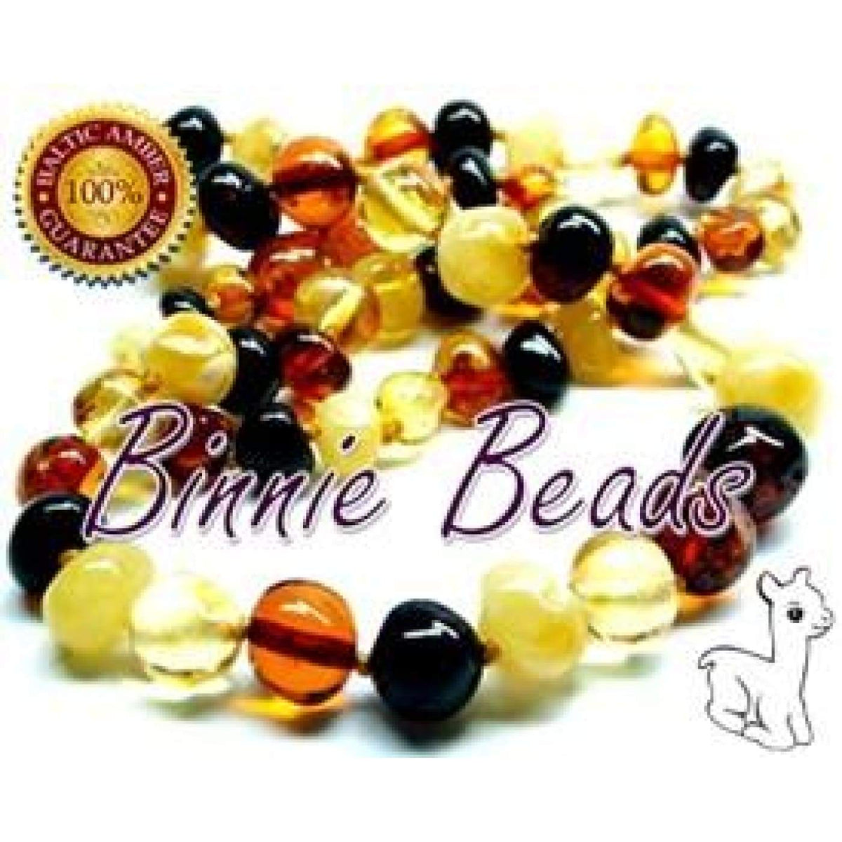 Binnie Baltic Amber Teething Baby Necklace - MultiMix 32CM - NURSING & FEEDING - TEETHERS/TEETHING JEWELLERY