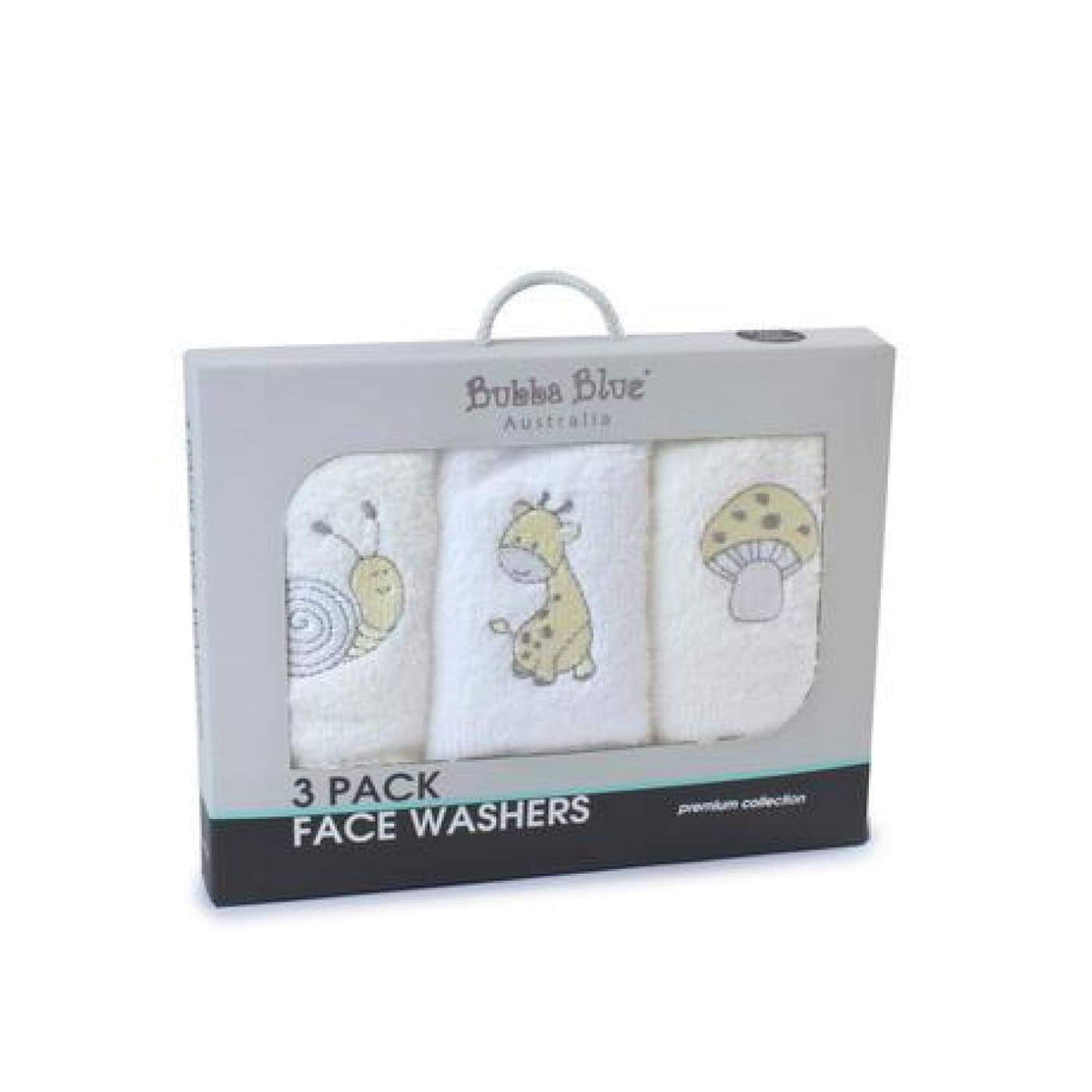 Bubba Blue Face washers 3PK - Vanilla Playtime - BATHTIME & CHANGING - TOWELS/WASHERS