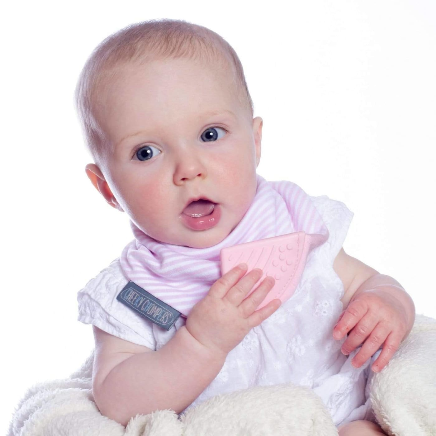 Cheeky Chompers Neckerchew COOL PINK - Cool Pink - NURSING & FEEDING - BIBS/BURP CLOTHS