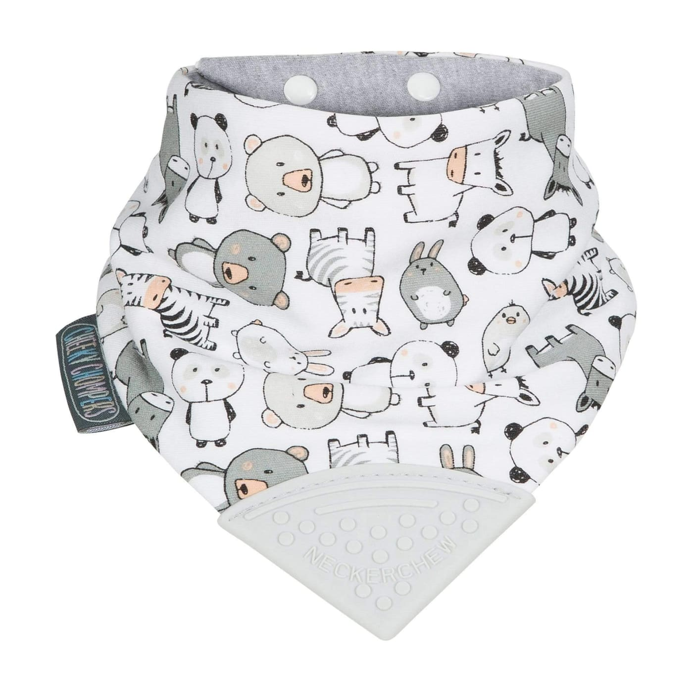 Cheeky Chompers Neckerchew - Panda Pals - Panda Pals - NURSING & FEEDING - BIBS/BURP CLOTHS