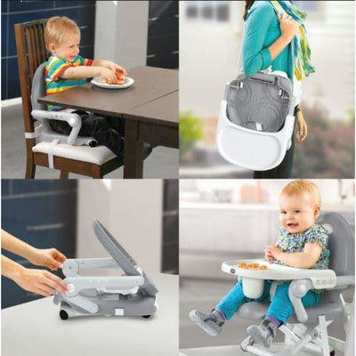 Chicco Pocket Snack Booster Seat - Dark Grey - NURSING & FEEDING - HIGH CHAIRS/BOOSTER SEATS