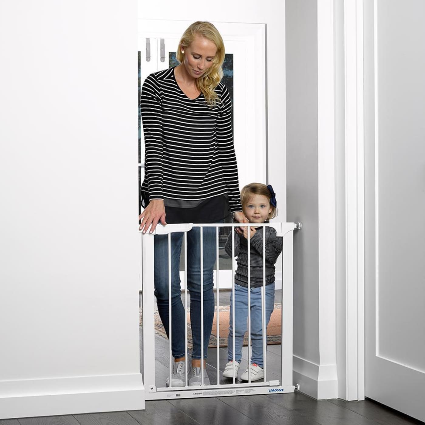 Childcare Assisted Auto Close Gate - White - White - HEALTH & HOME SAFETY - PLAY PENS/GATES/EXTENSIONS