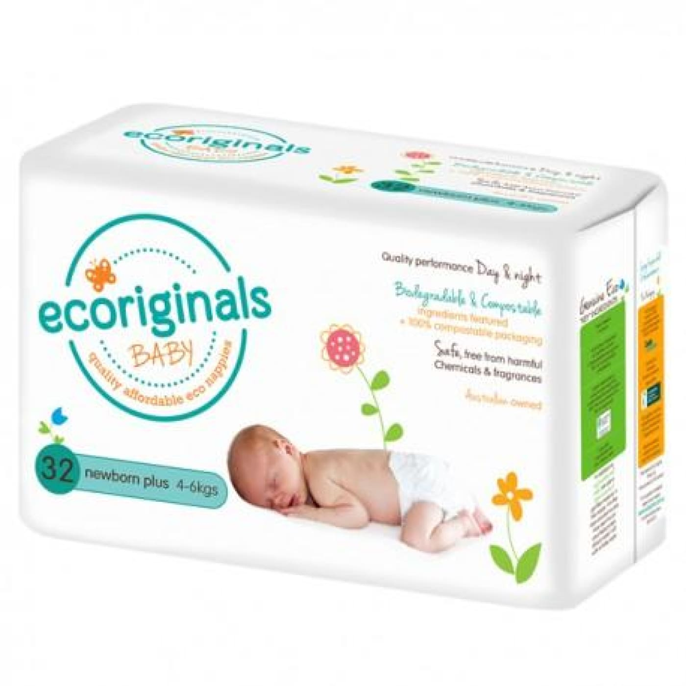 Ecoriginals Eco Disposable Nappies - Newborn Plus - BATHTIME & CHANGING - NAPPIES/WIPES/ACC ECO RANGE