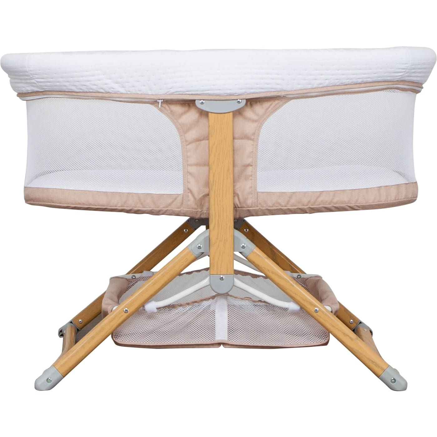 Grotime Luna Folding Bassinet - Beige - Beige - NURSERY & BEDTIME - BASSINETS/CRADLES/CO-SLEEPERS
