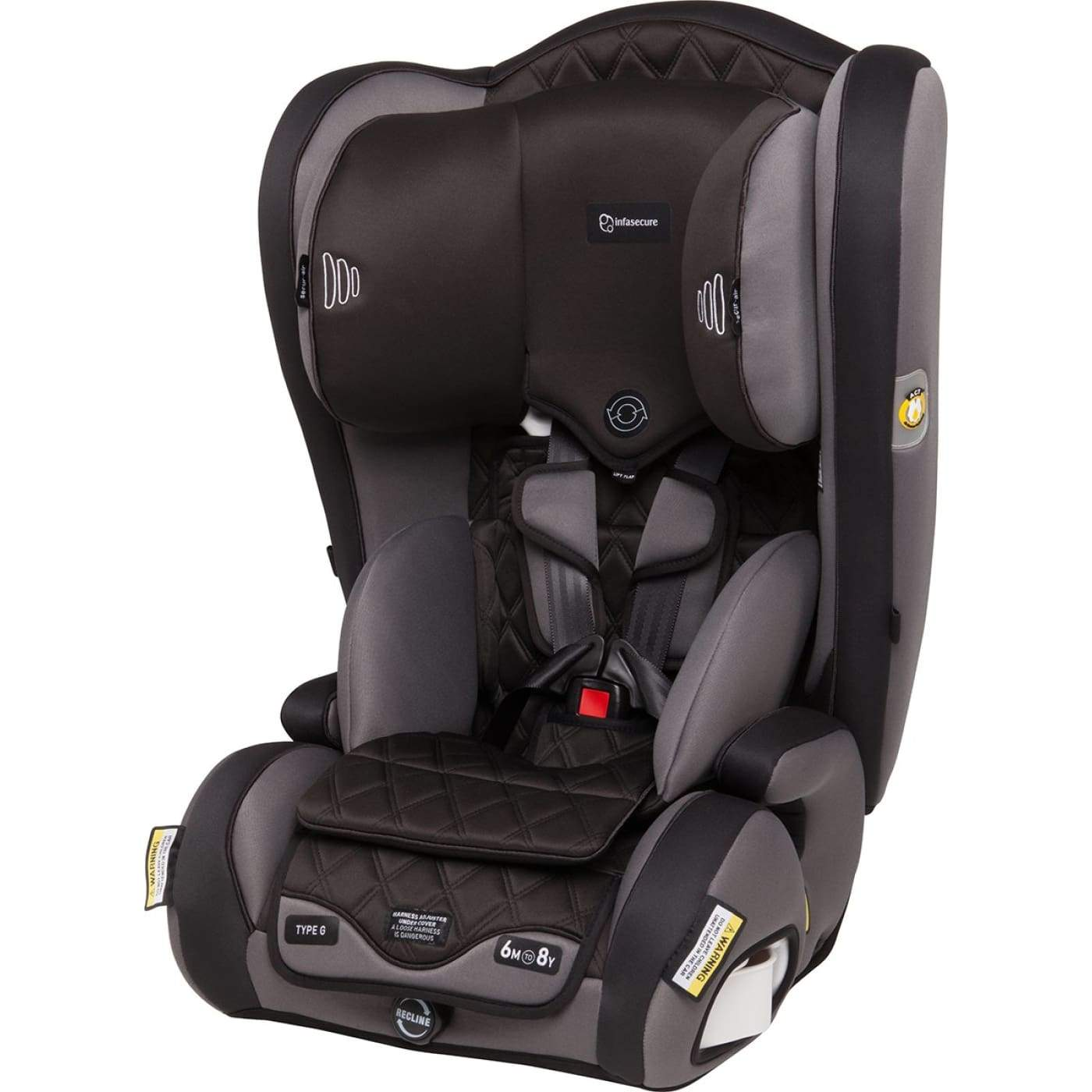 InfaSecure Accomplish Premium Harnessed Booster 6M-8YR - Night - CAR SEATS - HARNESSED BOOSTERS (6M-8YR)