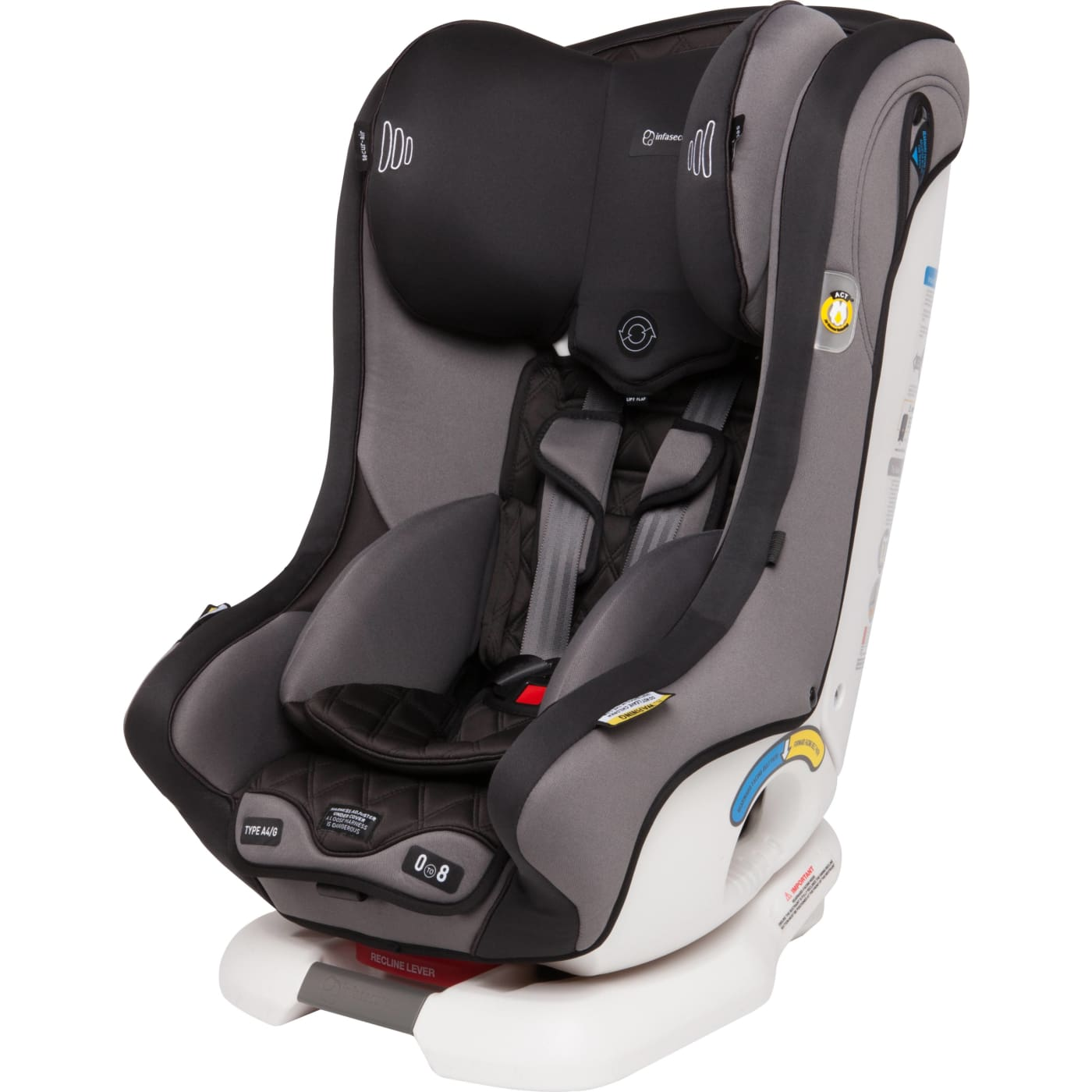 InfaSecure Achieve Premium Harnessed Convertible Car Seat 0-8YR - Night - 0-8YRS / Night - CAR SEATS - HARNESSED CONV CAR SEATS (0-8YR)