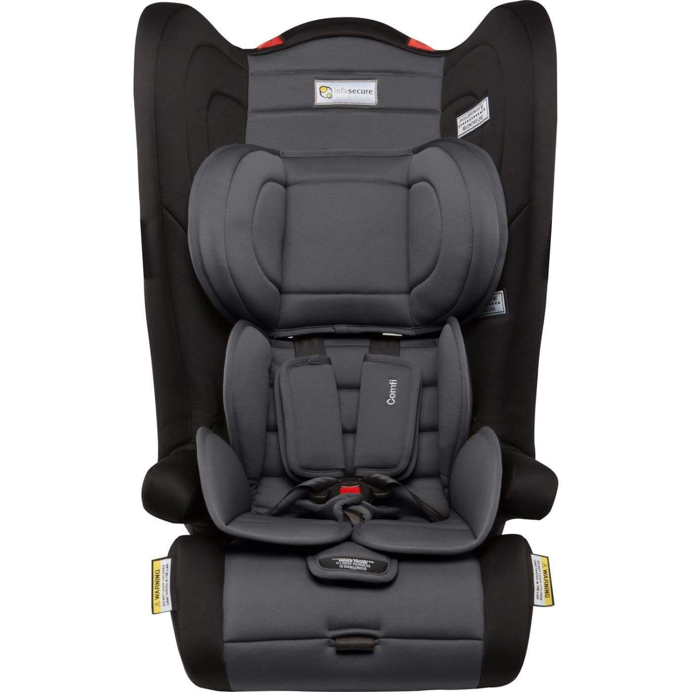 InfaSecure Astra Comfi Convertible Booster 6M-8YR - Grey - CAR SEATS - CONV BOOSTERS (6M-8YR)