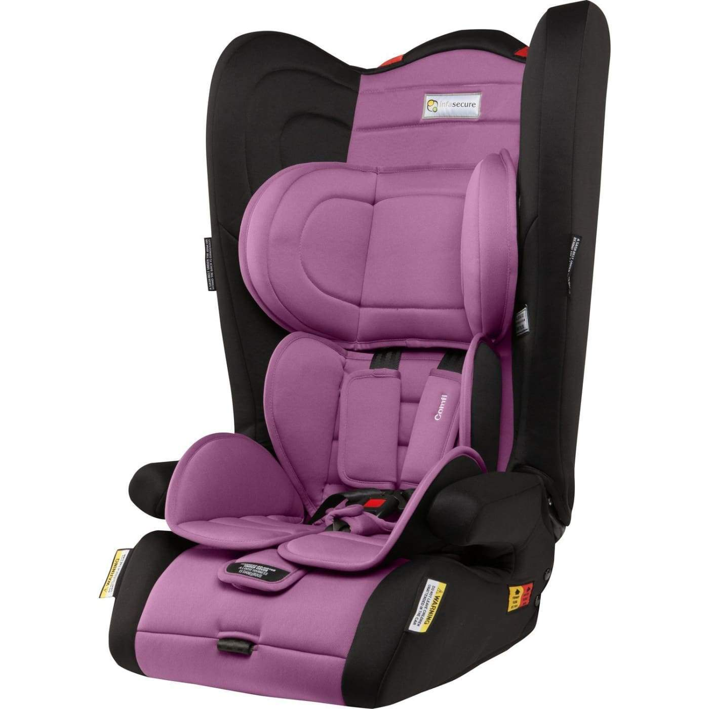 InfaSecure Astra Comfi Convertible Booster 6M-8YR - Purple - CAR SEATS - CONV BOOSTERS (6M-8YR)