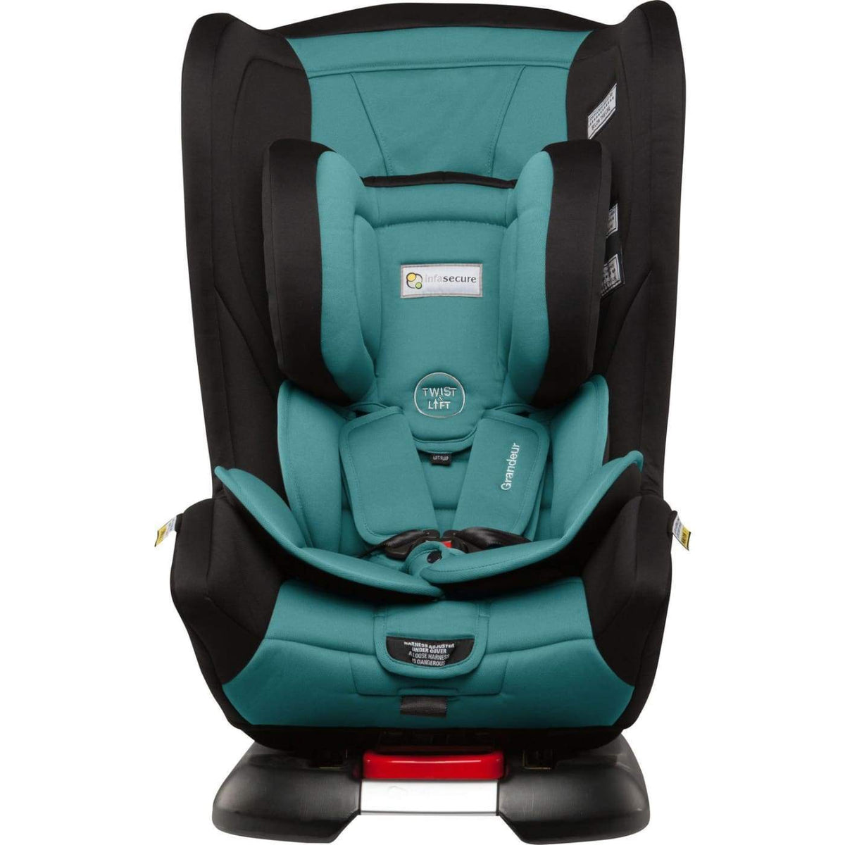 InfaSecure Astra Grandeur Harnessed Convertible Car Seat 0-8YR - Aqua - CAR SEATS - HARNESSED CONV CAR SEATS (0-8YR)