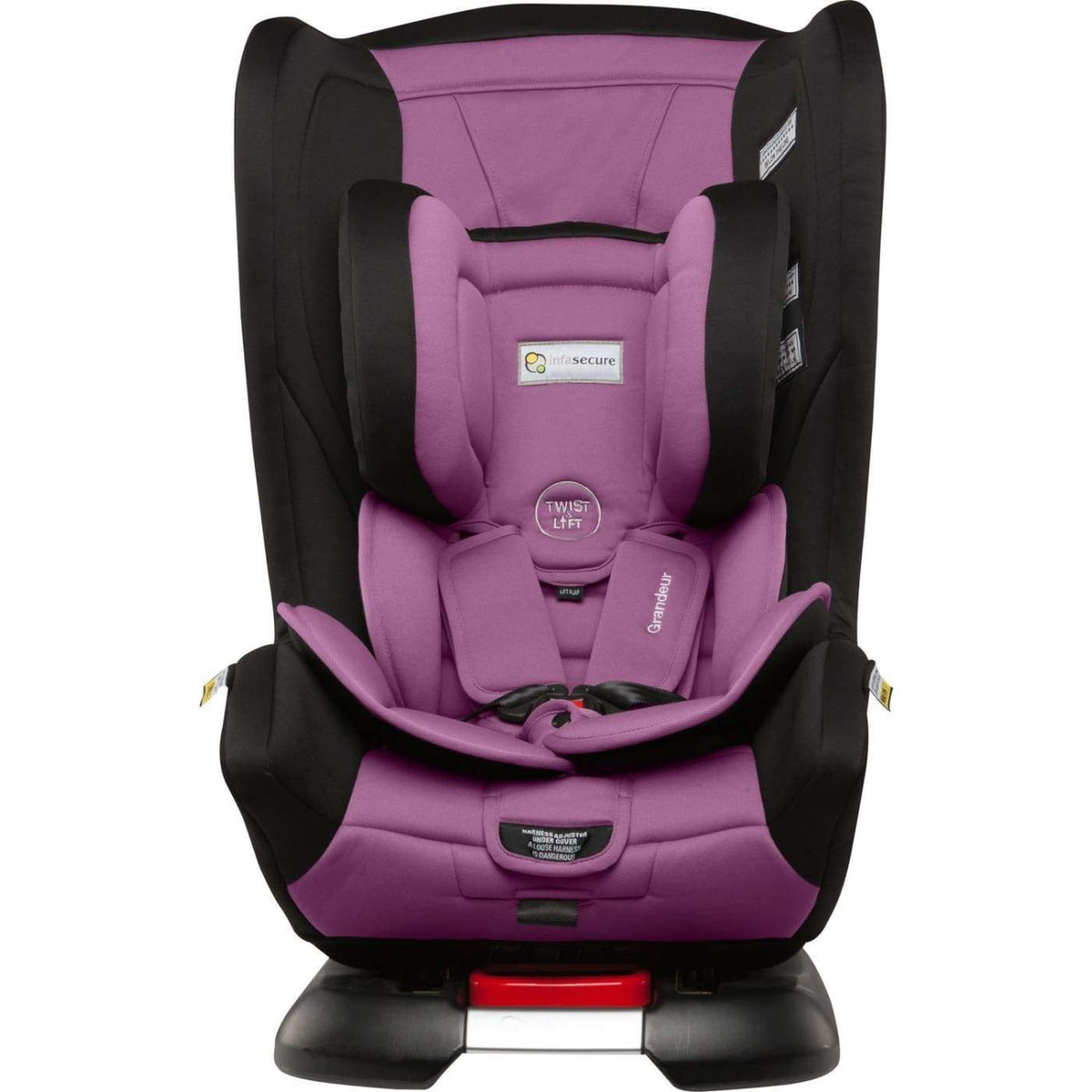 InfaSecure Astra Grandeur Harnessed Convertible Car Seat 0-8YR - Purple - CAR SEATS - HARNESSED CONV CAR SEATS (0-8YR)