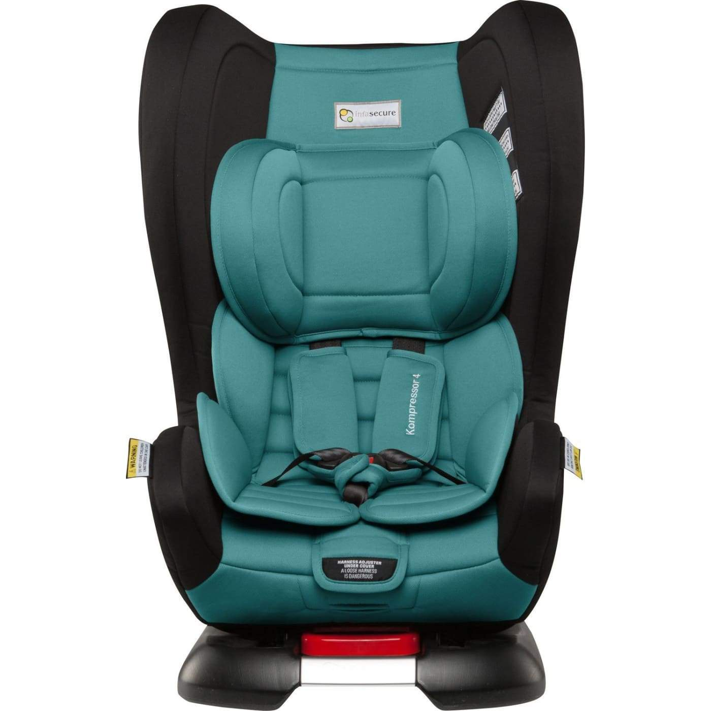 InfaSecure Astra Kompressor 4 Isofix Convertible Car Seat 0-4YR - Aqua - CAR SEATS - CONV ISOFIX CAR SEATS (0-4YR)