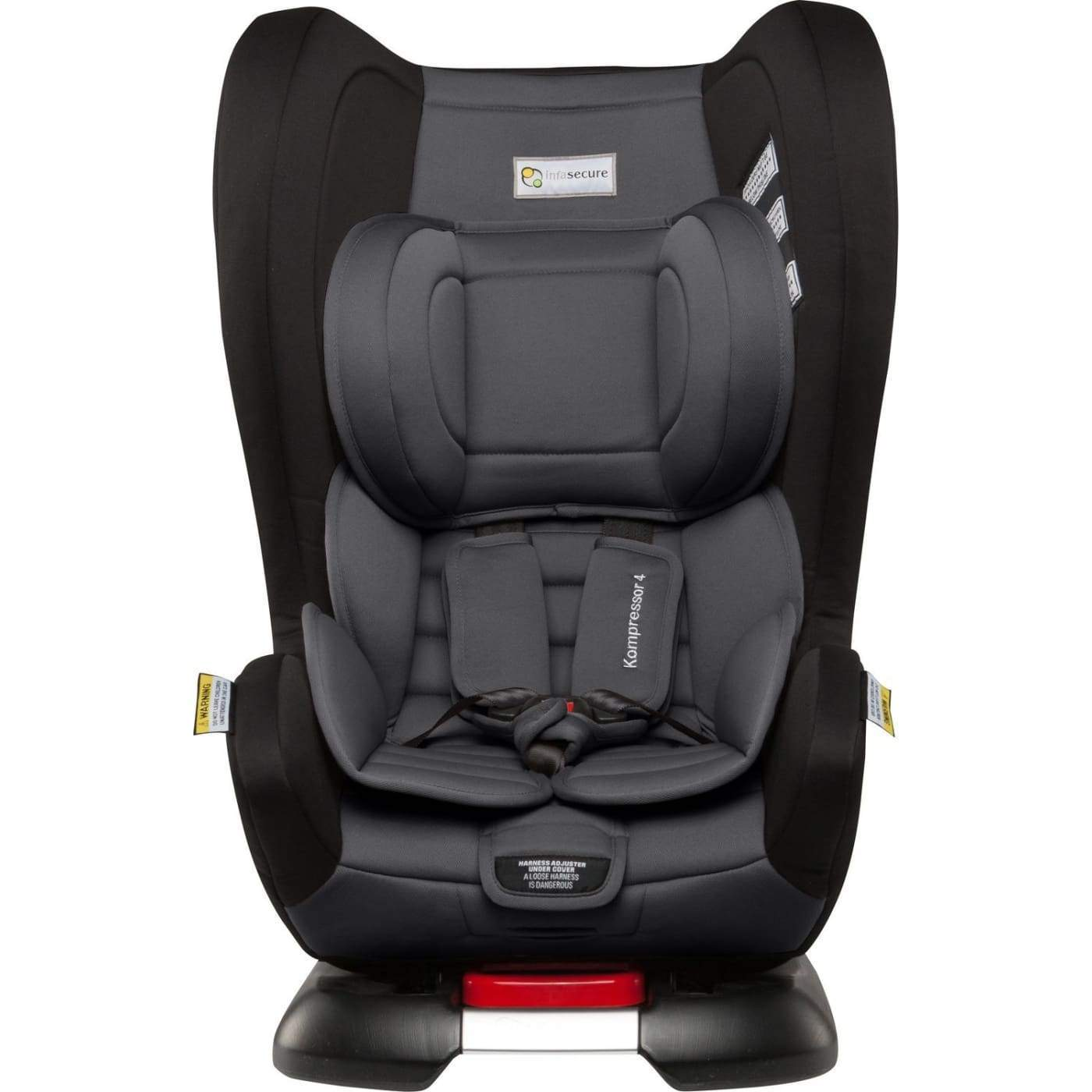 InfaSecure Astra Kompressor 4 Isofix Convertible Car Seat 0-4YR - Grey - CAR SEATS - CONV ISOFIX CAR SEATS (0-4YR)