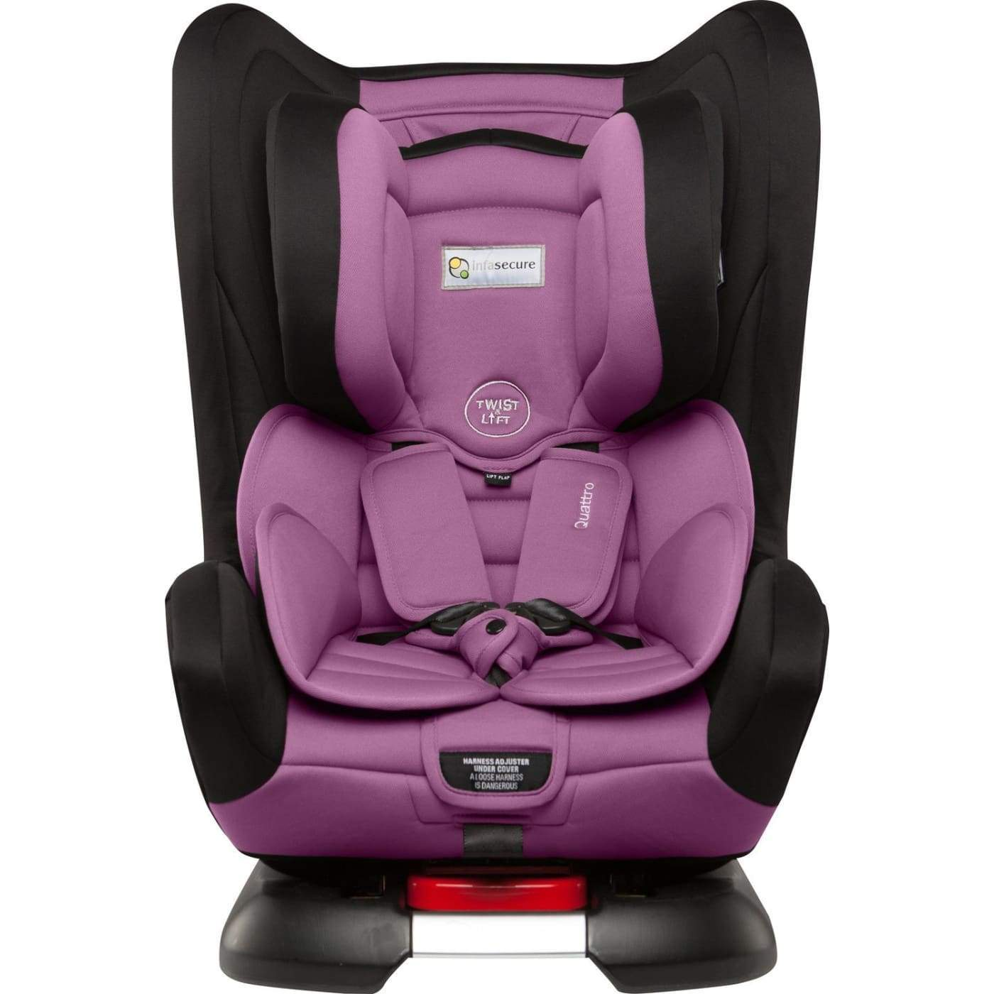 InfaSecure Astra Quattro Convertible Car Seat 0-4YR - Purple - CAR SEATS - CONV CAR SEATS (0-4YR)