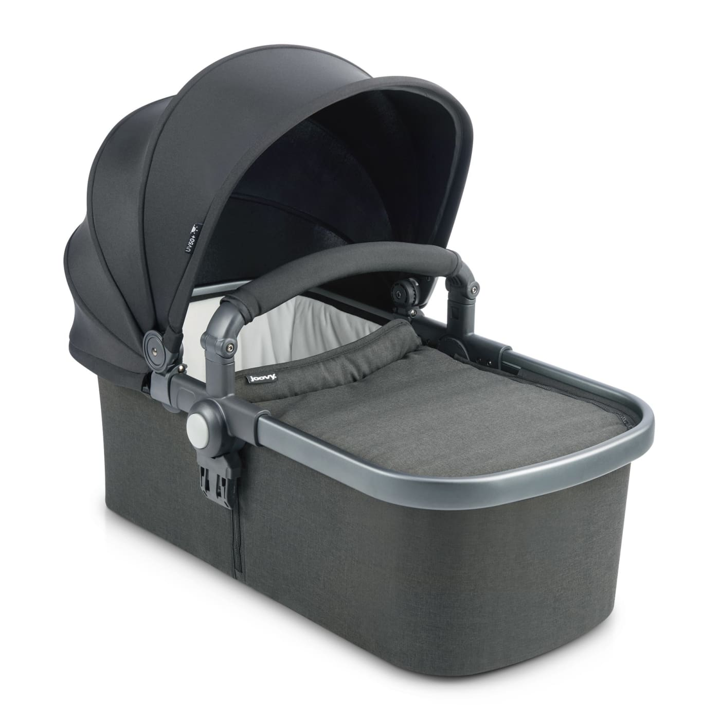 Joovy Bassinet - Black Melange - Black Melange - PRAMS & STROLLERS - BASS/CARRY COTS/STANDS
