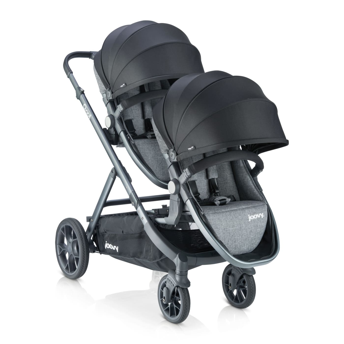 Joovy Qool Second Seat - Black Melange - Black Melange - PRAMS & STROLLERS - TODDLER SEATS/CONVERSION KITS