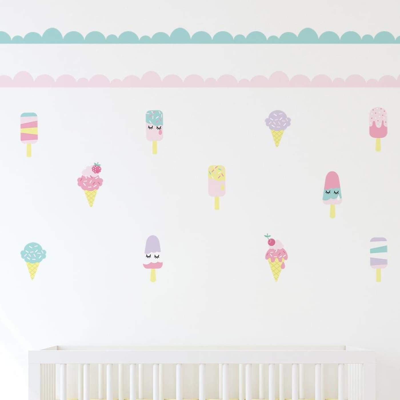 Living Textiles Wall Decal Set - Ice Cream (C-D) - NURSERY & BEDTIME - DECOR
