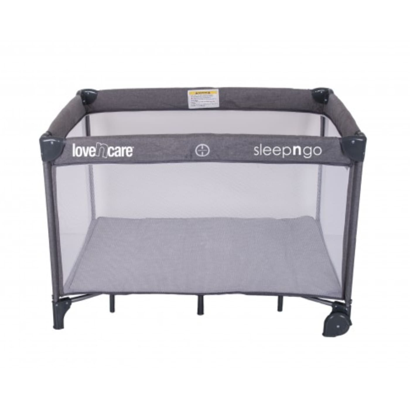 Love N Care 3-in-1 Sleep N Go Travel Cot - Grey - ON THE GO - PORTACOTS/ACCESSORIES